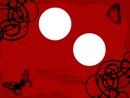fond noir et rouge