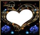 coeur lumineux love avec roses