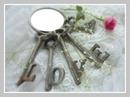 clés love rose