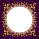 purple frame gold square circle