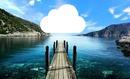 nube en el lago