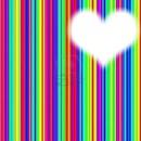 Coeur multicolores