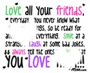 Love all your frinds
