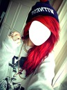Girl Hair Red Emo