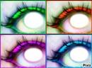 les yeux colorés de l'amitié