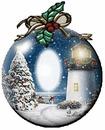 Cc esfera navideña con nieve