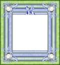 cadre bleu vert petit noeud