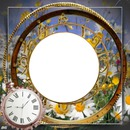 cadre montre fleuri