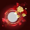 Cc circulo con rosa dorada