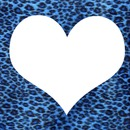 coeur leopard bleu