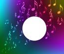 note de musique multicolore