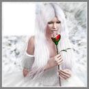la femme a la rose