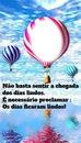 balão com frase