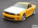 ford mustang tuning jaune + 1 photo capot ;)