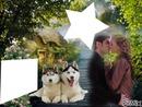 cadre des amoureux automne