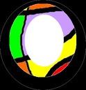 cadre ovale coloré -1 photo