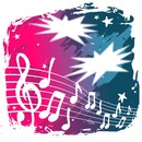 music blue and pink