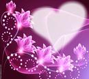 Herz mit Blumen umgeben