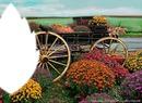 la charrette de fleurs