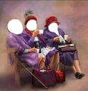 3 dames sur un banc