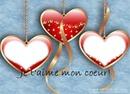 jt'aime mon coeur avec 2 photos coeur