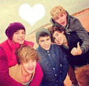 one direction, plage, coeur