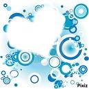 coeur su font bleu