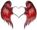 coeur avec des aille de demon + 1 photo