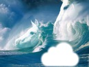 cheval dans les nuages