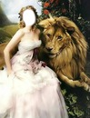 femme au lion