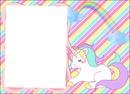 Moldura de unicornio para lembrancinha