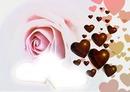 Rosen mit Herzen