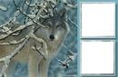 Deux cadres avec loup