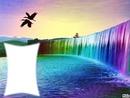 cascade multicolore