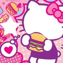 Hello kitty hamburger visage étoile