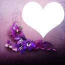 coeur fleur violette