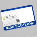 Miss Scotland Card