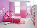Quarto feminino da cor rosa