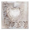 coeur sur toile