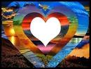 un coeur avec pleins de couleur 1 photo