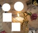 4 Bilder Kerzenschein