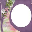 cadre fleurie violet printemps