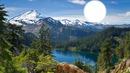 lac avec montagne de neige