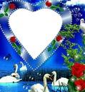 corazon con cisnes