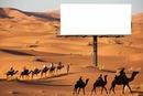 panneau dans le désert