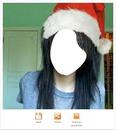 chica de gorro de navidad