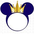 mickey rey azul