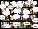 caras de:Martina Stoessel,Justin Bieber,Selena Gomez y Miley Cirus y/o ser a quien cada uno de ellos aman
