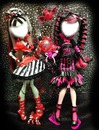 Monster High (Dois personagens) Draculaura e Frankie