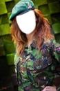 Mujer militar.